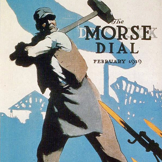 Edward Hopper Morse Dry Dock Dial Smash The Hun 2-1919 crop | Edward Hopper Paintings, Aquarelles, Illustrations, Ads 1900-1966