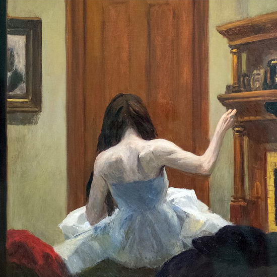 Edward Hopper New York Interior 1921 crop A | Edward Hopper Paintings, Aquarelles, Illustrations, Ads 1900-1966