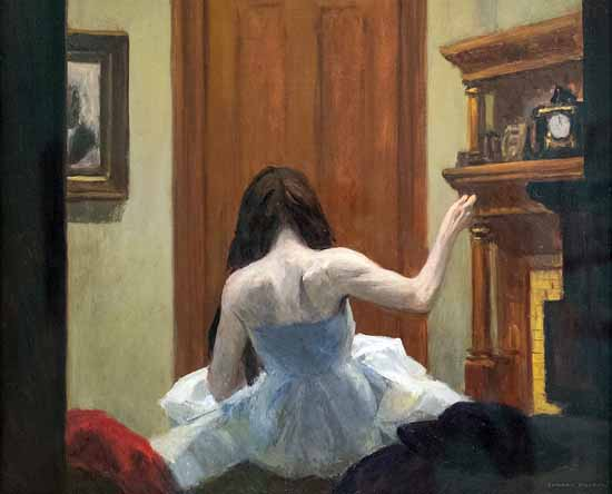 Edward Hopper New York Interior 1921 | Edward Hopper Paintings, Aquarelles, Illustrations, Ads 1900-1966