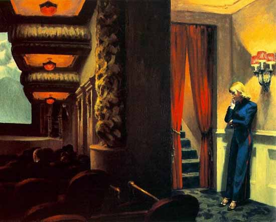 Edward Hopper New York Movie 1939 | Edward Hopper Paintings, Aquarelles, Illustrations, Ads 1900-1966