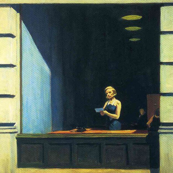 Edward Hopper New York Office 1962 crop B   Edward Hopper Paintings, Aquarelles, Illustrations, Ads 1900-1966