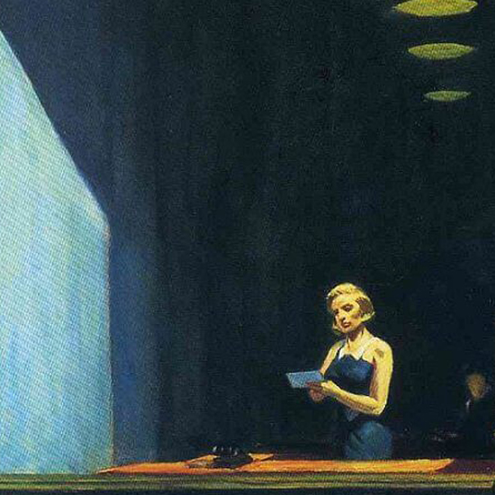 Edward Hopper New York Office 1962 crop C | Edward Hopper Paintings, Aquarelles, Illustrations, Ads 1900-1966