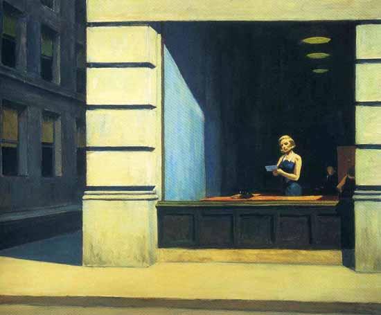 Edward Hopper New York Office 1962 | Edward Hopper Paintings, Aquarelles, Illustrations, Ads 1900-1966