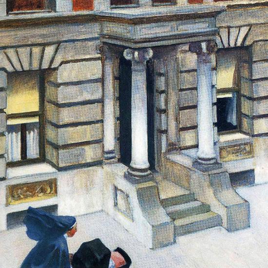 Edward Hopper New York Pavements 1924 crop | Edward Hopper Paintings, Aquarelles, Illustrations, Ads 1900-1966