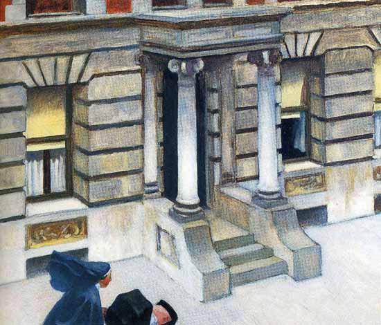 Edward Hopper New York Pavements 1924 | Edward Hopper Paintings, Aquarelles, Illustrations, Ads 1900-1966