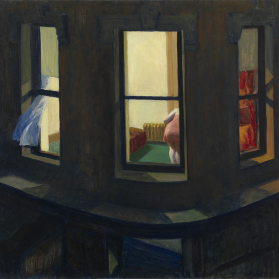Edward Hopper Night Windows 1928 crop A   Edward Hopper Paintings, Aquarelles, Illustrations, Ads 1900-1966