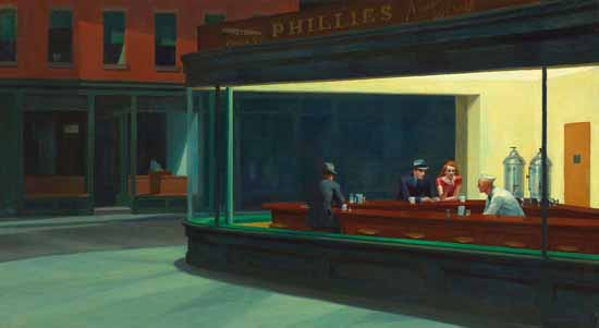 Edward Hopper Nighthawks 1942 | Edward Hopper Paintings, Aquarelles, Illustrations, Ads 1900-1966