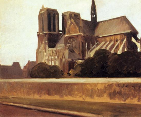 Edward Hopper Notre Dame 1907 | Edward Hopper Paintings, Aquarelles, Illustrations, Ads 1900-1966