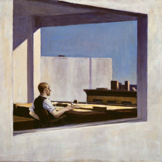 Edward Hopper Office in a Small City 1953 crop A | Edward Hopper Paintings, Aquarelles, Illustrations, Ads 1900-1966
