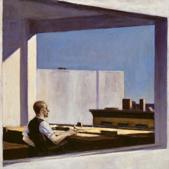Edward Hopper Office in a Small City 1953 crop B | Edward Hopper Paintings, Aquarelles, Illustrations, Ads 1900-1966