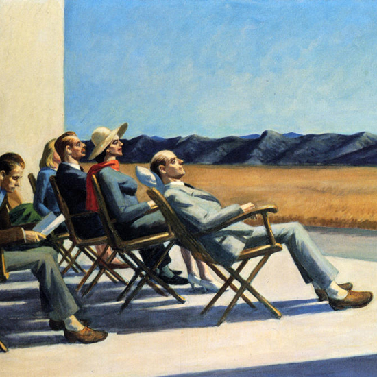 Edward Hopper People in the Sun 1960 crop | Edward Hopper Paintings, Aquarelles, Illustrations, Ads 1900-1966