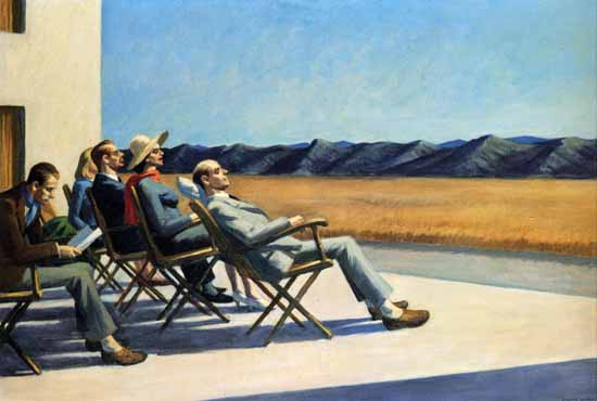 Edward Hopper People in the Sun 1960 | Edward Hopper Paintings, Aquarelles, Illustrations, Ads 1900-1966