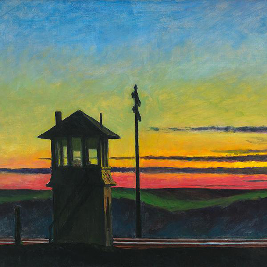 Edward Hopper Railroad Sunset 1929 crop A | Edward Hopper Paintings, Aquarelles, Illustrations, Ads 1900-1966