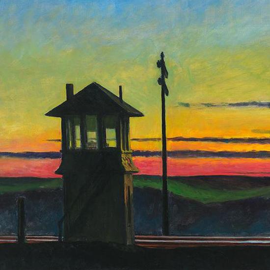 Edward Hopper Railroad Sunset 1929 crop C | Edward Hopper Paintings, Aquarelles, Illustrations, Ads 1900-1966