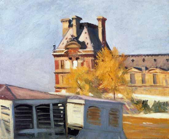 Edward Hopper Read Pavillon de Flore 1909 | Edward Hopper Paintings, Aquarelles, Illustrations, Ads 1900-1966