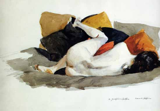 Edward Hopper Reclining Nude 1924 | Edward Hopper Paintings, Aquarelles, Illustrations, Ads 1900-1966