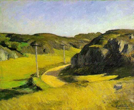 Edward Hopper Road in Maine 1914 | Edward Hopper Paintings, Aquarelles, Illustrations, Ads 1900-1966
