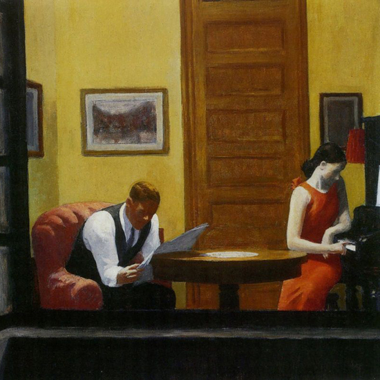 Edward Hopper Room in New York 1932 crop A | Edward Hopper Paintings, Aquarelles, Illustrations, Ads 1900-1966