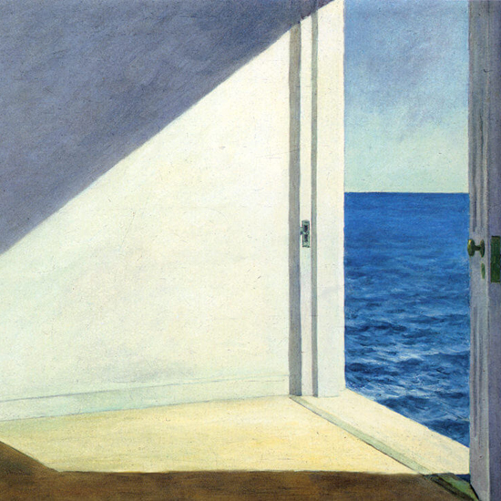 Edward Hopper Rooms by the Sea 1951 crop A | Edward Hopper Paintings, Aquarelles, Illustrations, Ads 1900-1966
