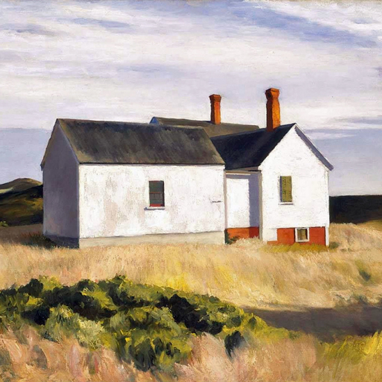 Edward Hopper Ryders House 1933 crop   Edward Hopper Paintings, Aquarelles, Illustrations, Ads 1900-1966