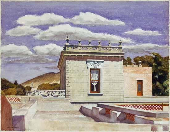 Edward Hopper Saltillo Mansion 1943   Edward Hopper Paintings, Aquarelles, Illustrations, Ads 1900-1966