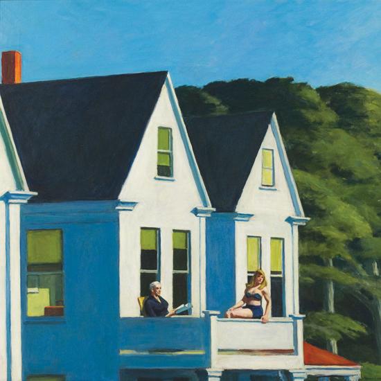 Edward Hopper Second Story Sunlight 1960 crop A | Edward Hopper Paintings, Aquarelles, Illustrations, Ads 1900-1966