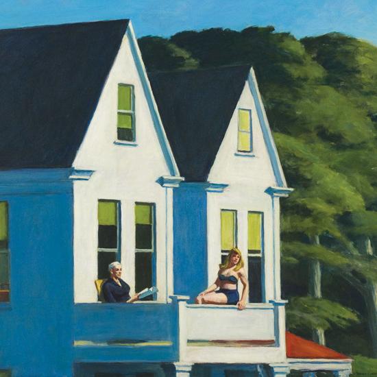 Edward Hopper Second Story Sunlight 1960 crop B | Edward Hopper Paintings, Aquarelles, Illustrations, Ads 1900-1966