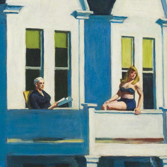 Edward Hopper Second Story Sunlight 1960 crop C | Edward Hopper Paintings, Aquarelles, Illustrations, Ads 1900-1966