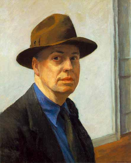 Edward Hopper Self-Portrait 1925-30 | Edward Hopper Paintings, Aquarelles, Illustrations, Ads 1900-1966