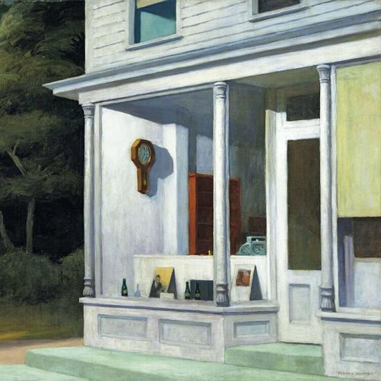 Edward Hopper Seven AM 1948 crop A   Edward Hopper Paintings, Aquarelles, Illustrations, Ads 1900-1966