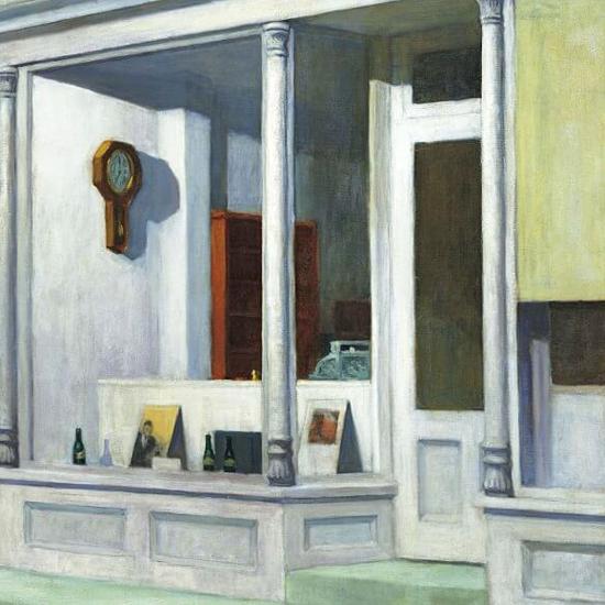 Edward Hopper Seven AM 1948 crop B | Edward Hopper Paintings, Aquarelles, Illustrations, Ads 1900-1966