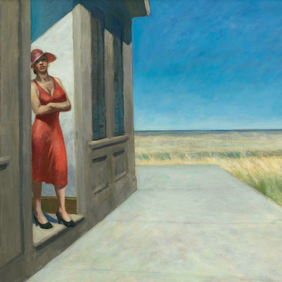 Edward Hopper South Carolina Morning 1955 crop B   Edward Hopper Paintings, Aquarelles, Illustrations, Ads 1900-1966