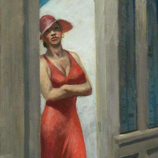 Edward Hopper South Carolina Morning 1955 crop D | Edward Hopper Paintings, Aquarelles, Illustrations, Ads 1900-1966