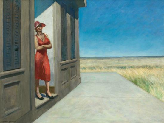 Edward Hopper South Carolina Morning 1955 | Edward Hopper Paintings, Aquarelles, Illustrations, Ads 1900-1966