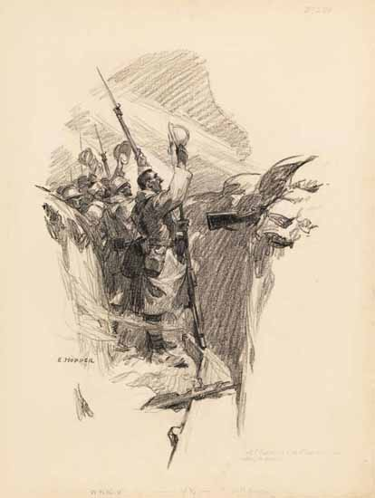 Edward Hopper Study for The Emperors Ghost Scribners Magazine 1919 A | Edward Hopper Paintings, Aquarelles, Illustrations, Ads 1900-1966
