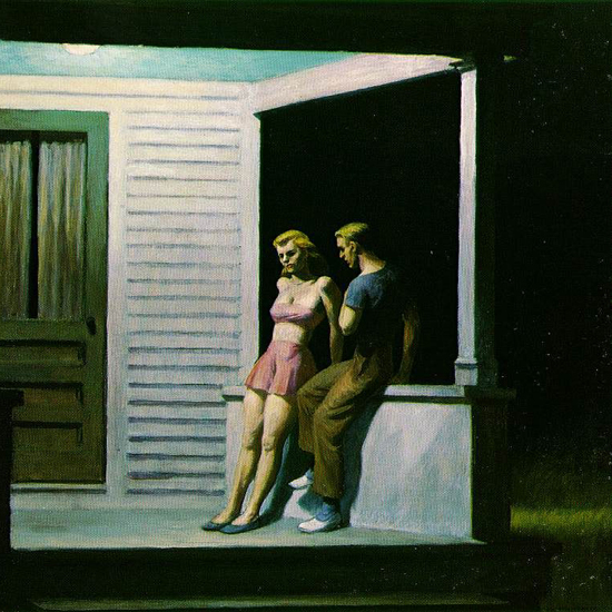 Edward Hopper Summer Evening 1947 crop A | Edward Hopper Paintings, Aquarelles, Illustrations, Ads 1900-1966