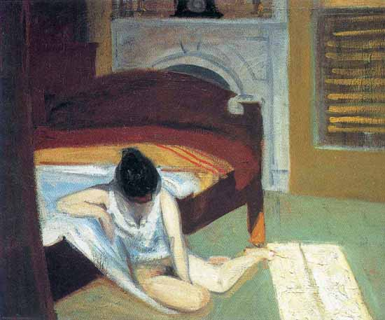 Edward Hopper Summer Interior 1909   Edward Hopper Paintings, Aquarelles, Illustrations, Ads 1900-1966