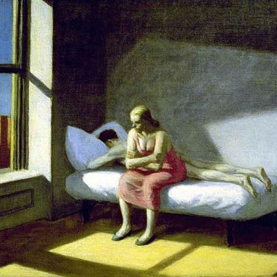 Edward Hopper Summer in the City 1950 crop | Edward Hopper Paintings, Aquarelles, Illustrations, Ads 1900-1966