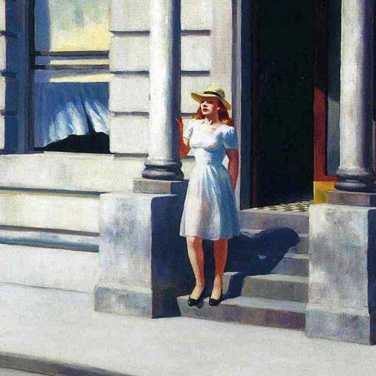 Edward Hopper Summertime 1943 crop C | Edward Hopper Paintings, Aquarelles, Illustrations, Ads 1900-1966