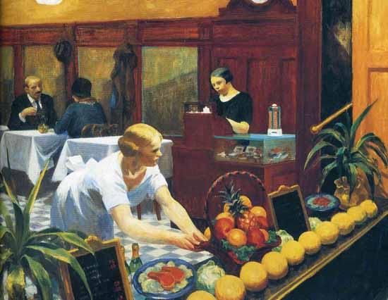 Edward Hopper Tables for Ladies 1930 | Edward Hopper Paintings, Aquarelles, Illustrations, Ads 1900-1966