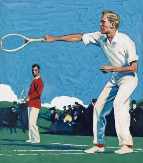 Edward Hopper Tennis Players 1920   Edward Hopper Paintings, Aquarelles, Illustrations, Ads 1900-1966