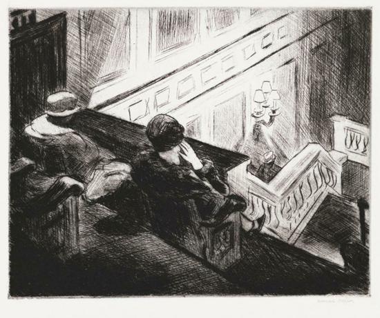 Edward Hopper The Balcony 1928 | Edward Hopper Paintings, Aquarelles, Illustrations, Ads 1900-1966