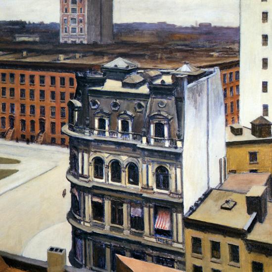 Edward Hopper The City 1927 crop | Edward Hopper Paintings, Aquarelles, Illustrations, Ads 1900-1966