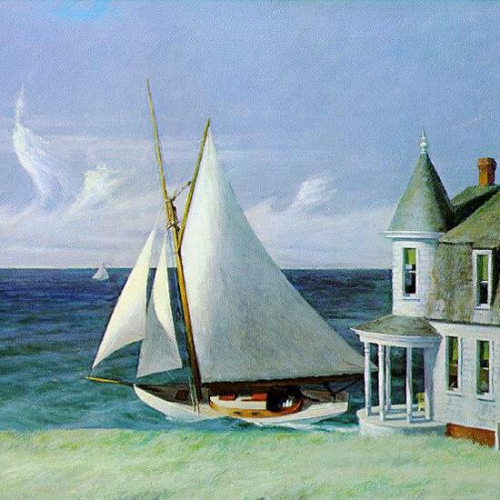 Edward Hopper The Lee Shore 1941 crop | Edward Hopper Paintings, Aquarelles, Illustrations, Ads 1900-1966