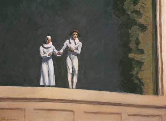Edward Hopper Two Comedians 1966 | Edward Hopper Paintings, Aquarelles, Illustrations, Ads 1900-1966