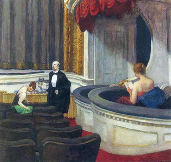 Edward Hopper Two on the Aisle 1927   Edward Hopper Paintings, Aquarelles, Illustrations, Ads 1900-1966