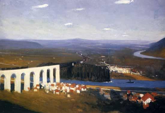 Edward Hopper Valley of the Seine 1908 | Edward Hopper Paintings, Aquarelles, Illustrations, Ads 1900-1966