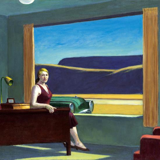 Edward Hopper Western Motel 1957 crop A | Edward Hopper Paintings, Aquarelles, Illustrations, Ads 1900-1966