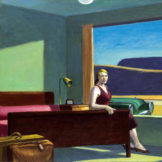 Edward Hopper Western Motel 1957 crop B | Edward Hopper Paintings, Aquarelles, Illustrations, Ads 1900-1966