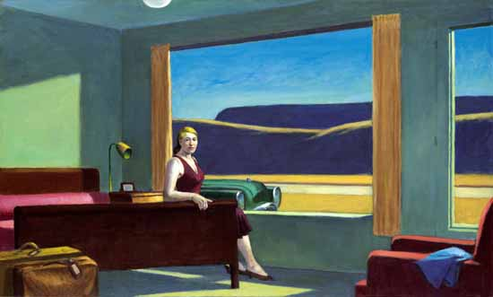 Edward Hopper Western Motel 1957 | Edward Hopper Paintings, Aquarelles, Illustrations, Ads 1900-1966